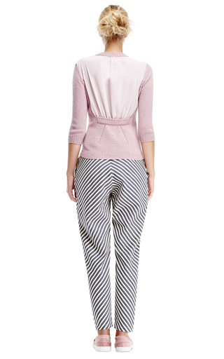 Striped Cotton Tapered Trousers by KARLA ŠPETIC Now Available on Moda Operandi