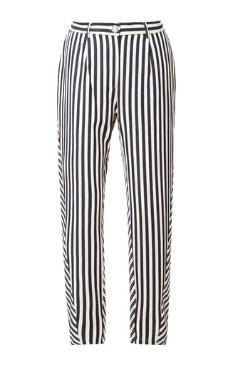 Medium karla spetic multi striped cotton tapered trousers