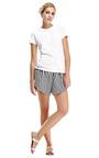 Striped Cotton Wrap Shorts by KARLA ŠPETIC Now Available on Moda Operandi