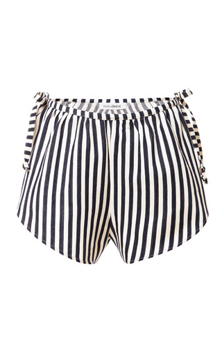 Medium karla spetic multi striped cotton wrap shorts