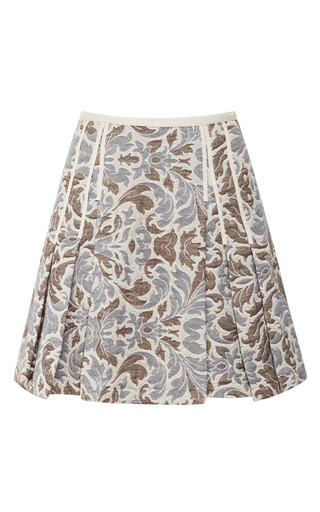Medium timo weiland multi taryn pleated brocade skirt