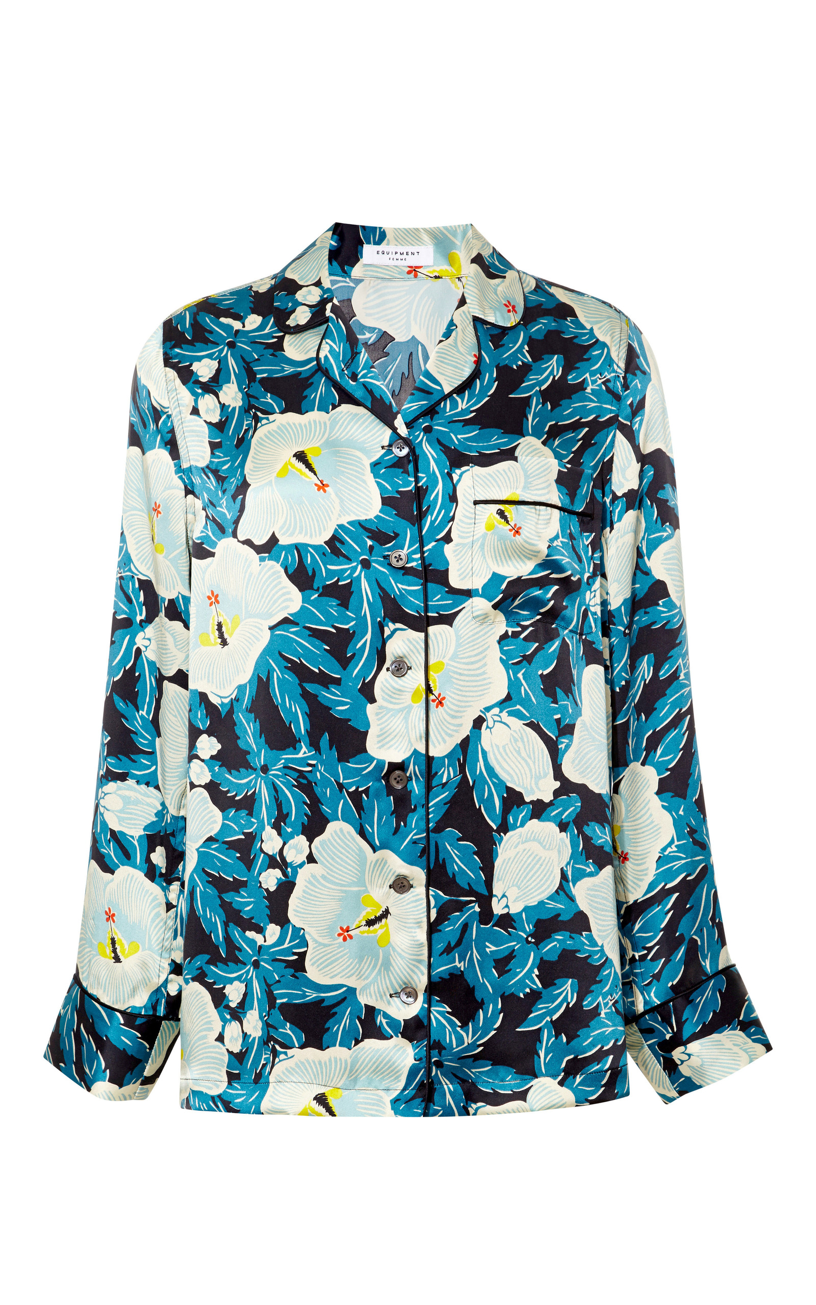 6c748129b0 Avery Floral-Print Silk-Satin Pajama Set by Equipment