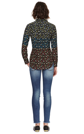 Signature Slim Fitted Floral Print Silk Blouse by EQUIPMENT Now Available on Moda Operandi