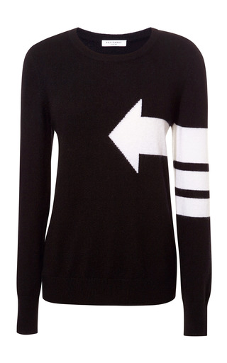 Medium equipment black shane arrow cashmere sweater