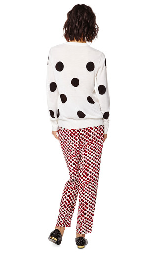 Shane Polka Dot Cashmere Sweater by EQUIPMENT Now Available on Moda Operandi