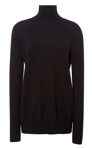 Medium equipment black oscar cashmere turtleneck 2