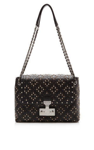 Medium marc jacobs black the large single baroque studded shoulder bag