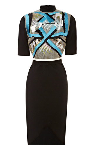Medium peter pilotto multi ania stretch crepe embellished dress