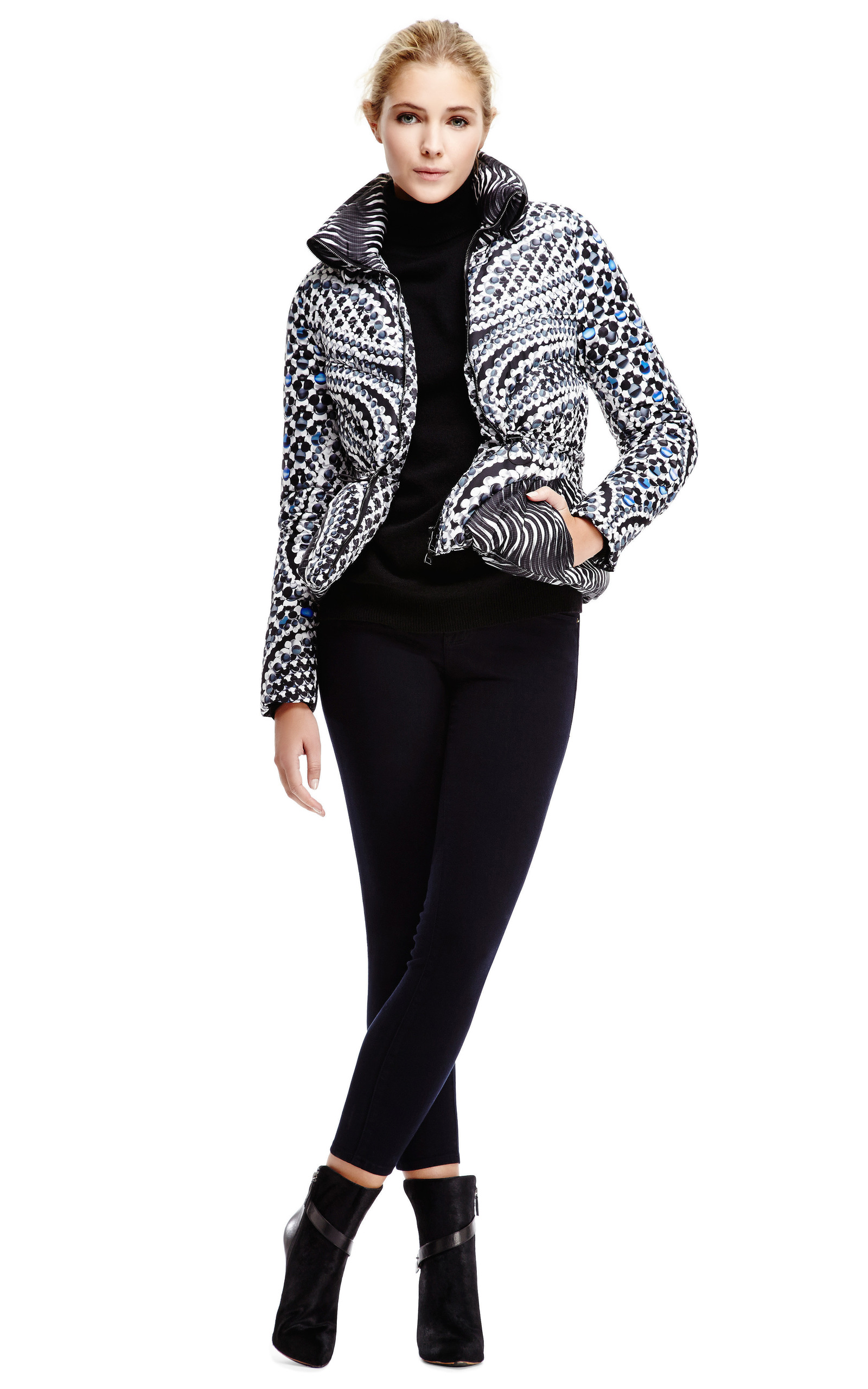 Peter Pilotto Printed Down Jacket Buy Cheap Clearance Store View Online Cheapest For Sale 9I5aFu9i