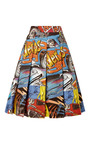 Printed Cotton Pleated Skirt by J.W. ANDERSON Now Available on Moda Operandi