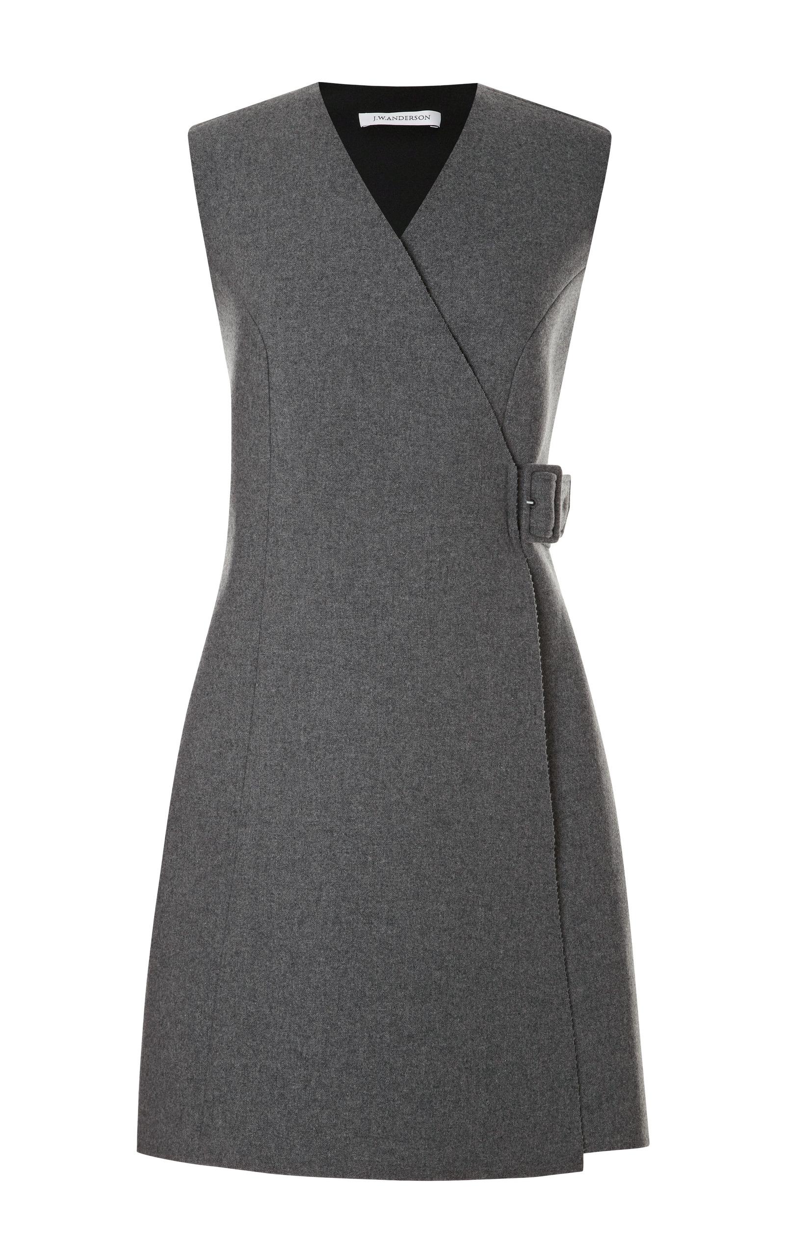 Bonded Neoprene Wool Dress By J W Anderson Moda Operandi