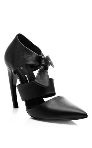 Leather Ankle Strap Pumps by PROENZA SCHOULER Now Available on Moda Operandi