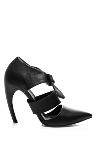 Medium proenza schouler black leather ankle strap pumps