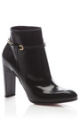 Glossy Leather Ankle Boot by NINA RICCI Now Available on Moda Operandi