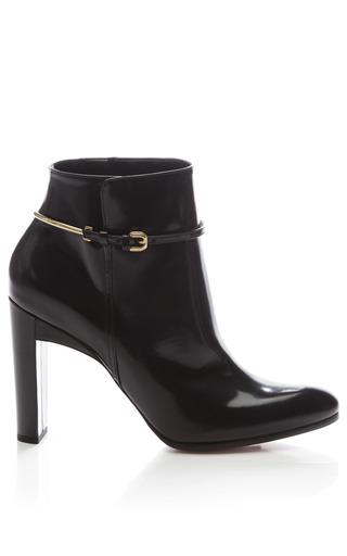 Medium nina ricci black glossy leather ankle boot