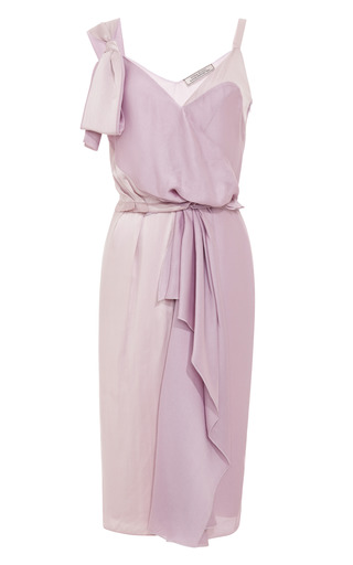 Silk Satin Draped Dress by NINA RICCI Now Available on Moda Operandi