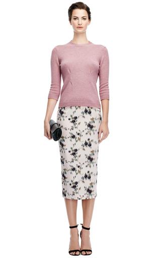 Shetland Wool Sweater With Silk Back by NINA RICCI Now Available on Moda Operandi