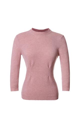 Medium nina ricci pink shetland wool sweater with silk back