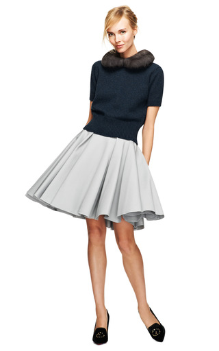 Felted Wool Circle Skirt by NINA RICCI Now Available on Moda Operandi