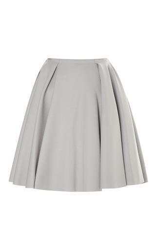 Medium nina ricci dark grey felted wool circle skirt