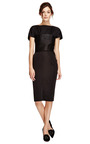 Bateau Neck Duchesse Satin Dress by NINA RICCI Now Available on Moda Operandi
