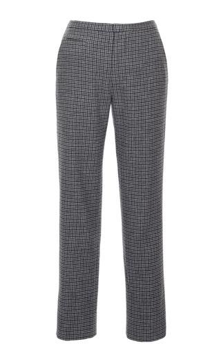 Medium marc jacobs dark grey mini plaid slim ankle pant