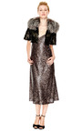 Owl Sequin Embellished Bed Jacket With Fox Fur Collar by MARC JACOBS Now Available on Moda Operandi