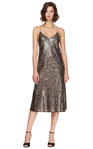 Mirror Sequins Tea Length Tank Dress by MARC JACOBS Now Available on Moda Operandi