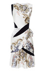 Printed Silk Satin Draped Dress by PRABAL GURUNG Now Available on Moda Operandi
