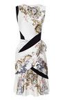 Printed Silk Satin Draped Dress by PRABAL GURUNG Now Available on Moda Operandi