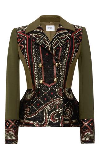 Medium prabal gurung multi brocade front double breasted peplum jacket