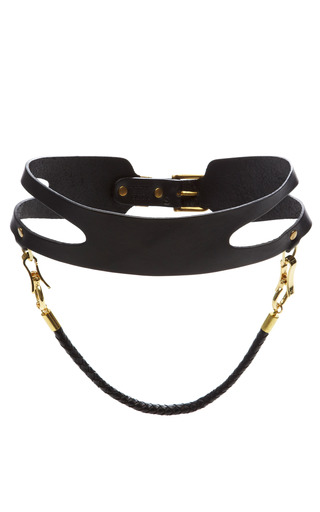 Cut Out Waist Belt With Braided Strap by PRABAL GURUNG Now Available on Moda Operandi