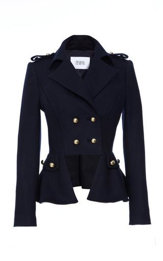 Medium prabal gurung blue double breasted wool blend jacket