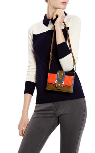 Anna Leather & Suede Clutch by PAULA CADEMARTORI Now Available on Moda Operandi