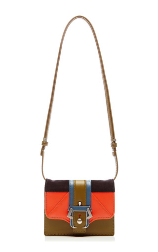 Anna Leather & Suede Clutch by PAULA CADEMARTORI Now Available on Moda Operandi