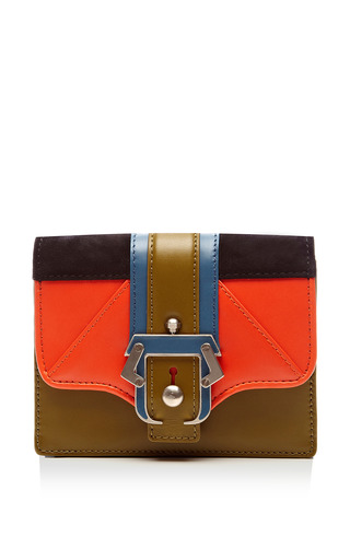 Medium paula cademartori multi anna leather suede clutch