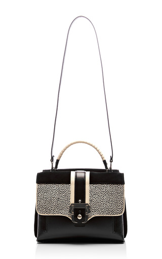 Faye Leather, Suede & Calf Hair Handbag by PAULA CADEMARTORI Now Available on Moda Operandi