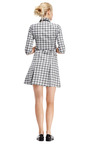 Jacquard Dress With Pleated Hem And Patch Detail by OSTWALD HELGASON Now Available on Moda Operandi