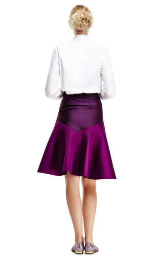 Doubleface Jacquard High Waisted Flare Skirt by OSTWALD HELGASON Now Available on Moda Operandi