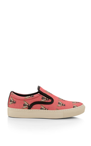 Medium mother of pearl pink achilles insect print sneakers