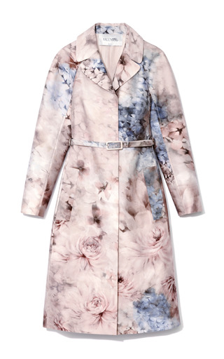 Printed Silk Blend Mikado Trench Coat by VALENTINO Now Available on Moda Operandi