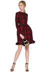Plaid Ruffle Detail Dress by VALENTINO Now Available on Moda Operandi