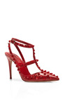 Studded Leather Pumps by VALENTINO Now Available on Moda Operandi