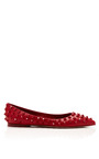 Studded Leather Flat by VALENTINO Now Available on Moda Operandi