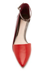 Avery Leather Flats With Ankle Strap by DEREK LAM 10 CROSBY Now Available on Moda Operandi