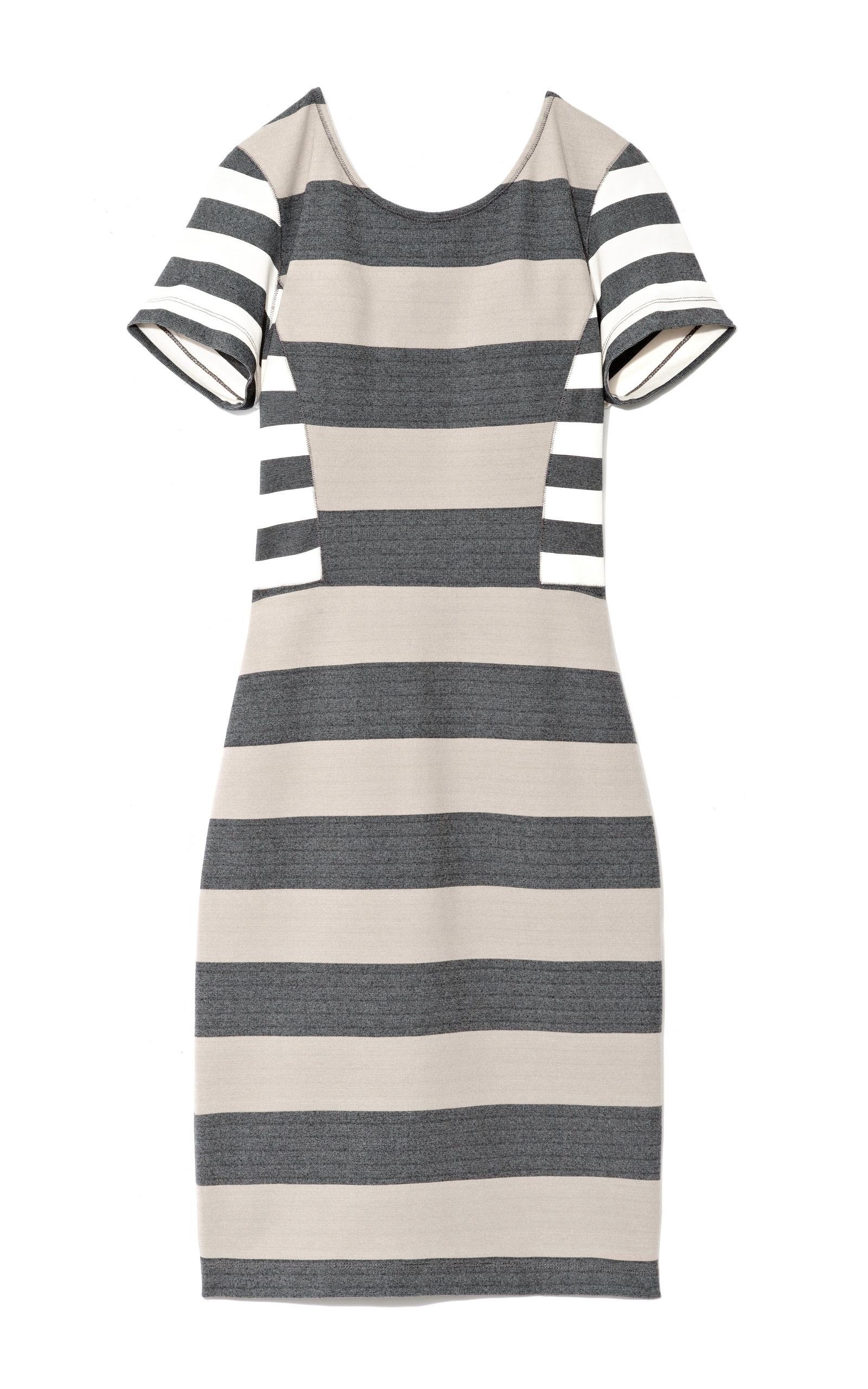 stripe interlock jersey dress by derek lam 10 crosby moda operandi. Black Bedroom Furniture Sets. Home Design Ideas