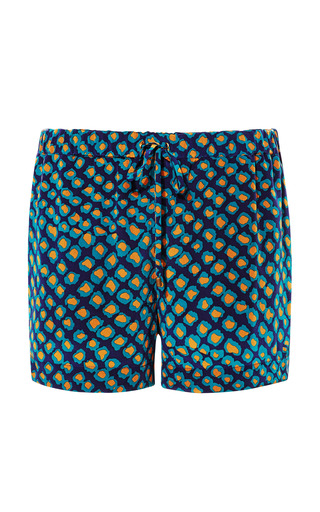 Printed Silk Drawstring Shorts by DEREK LAM 10 CROSBY Now Available on Moda Operandi