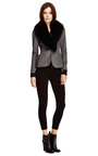 Fox Collared Wool Blend Blazer by DEREK LAM Now Available on Moda Operandi