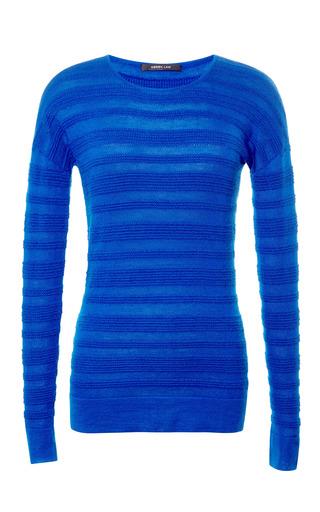 Medium derek lam blue cashmere and silk blend ribbed sweater