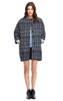 Woven Jacquard Oversized Coat by MSGM Now Available on Moda Operandi